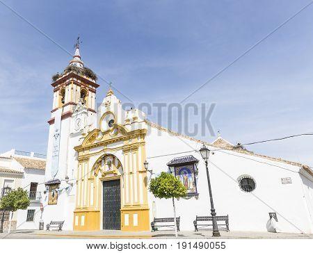 church of the Divino Salvador in Castilblanco de los Arroyos city, province of Seville, Spain
