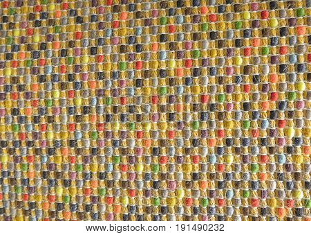 Background Pattern Various Colors of Handicraft Weave Texture Wicker Surface for Furniture Material. Vintage Tones.