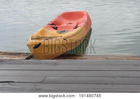 Kayak Among Mountains View
