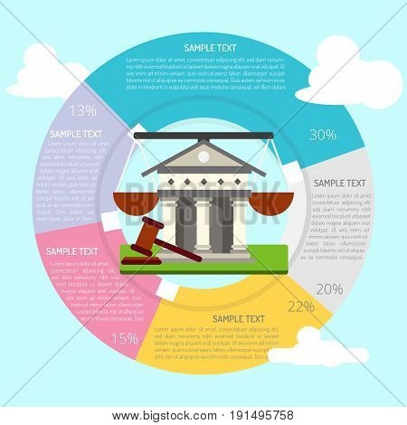 Courthouse Infographic | set of vector diagram illustration use for presentation, business, marketing and much more.The set can be used for several purposes like: websites, print templates, presentation templates, and promotional materials.