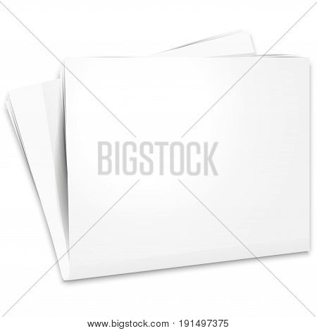 Open The Paper Journal, Paper Journal, Blank Magazin On A White Background, Page Template Design Ele