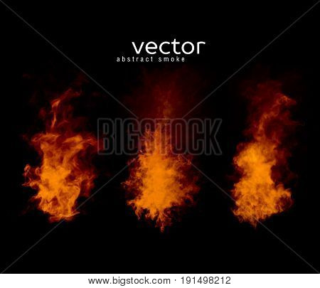 Vector Illustration Of Smoky Shapes.