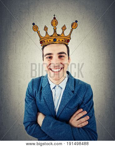 Businessman With Crown