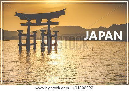 The Floating Otorii gate at Miyajima Japan.