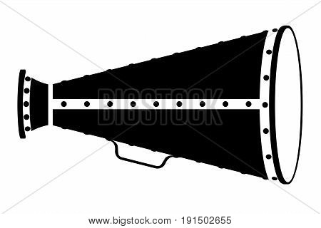 megaphone old retro vintage icon stock vector illustration isolated on white background