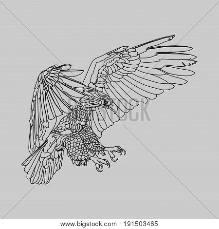 realistic eagle soaring eagle catching prey a symbol of freedom vector image