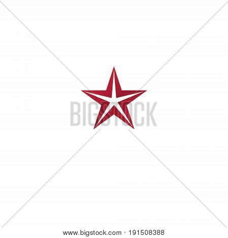 Pentagonal Star emblem. Heraldic Coat of Arms vintage vector logo.