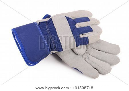 Working Mens Gloves On White Background