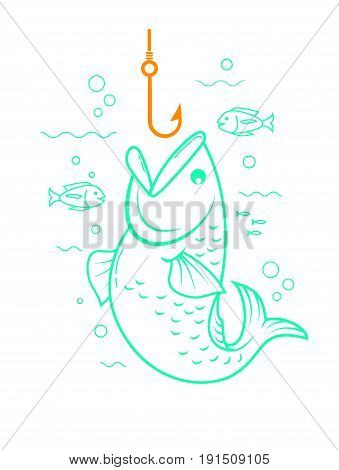Concept Of Fishing Linear Style