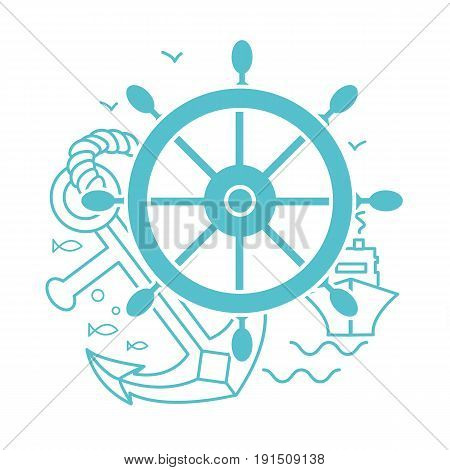 Concept Of Seafaring Icon