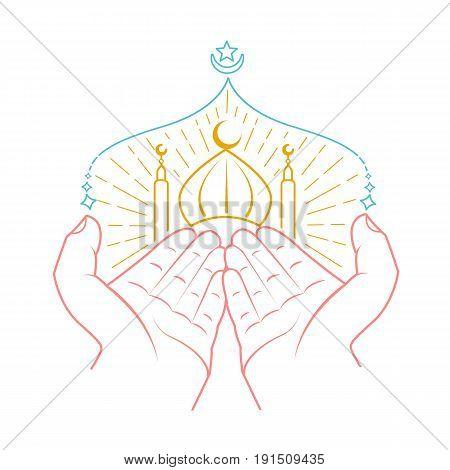 Icon Of Hands Praying Namaz