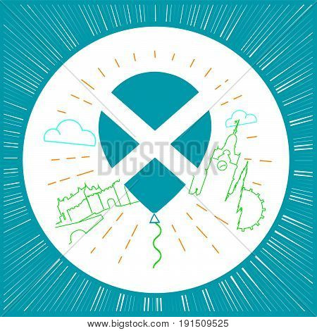 Logo For Travel To Scotland Circle