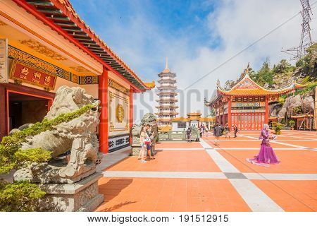 GENTING HIGHLANDS, MALAYSIA - APRIL 16, 2017: Chin Swee Caves Temple in Genting Highlands Pahang Malaysia