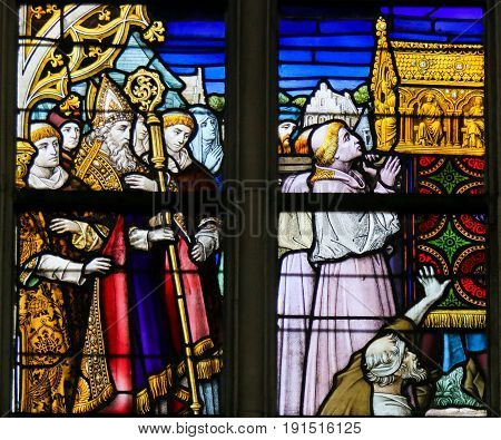 Stained Glass - Procession