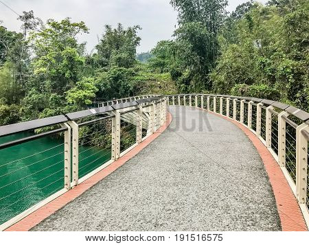 bike lane at Sun Moon Lake Taiwan