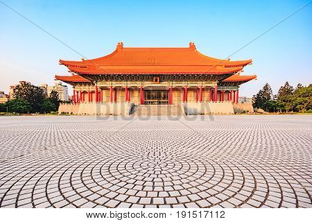 National Theater and Concert Hall near Chiang Kai-Shek memorial hall famous landmark and travel destination in Taipei Taiwan
