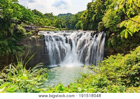Beautiful Waterfall in Shifen Waterfall Shifen waterfall is located at Pingxi township in Taipei Taiwan Long Exposure