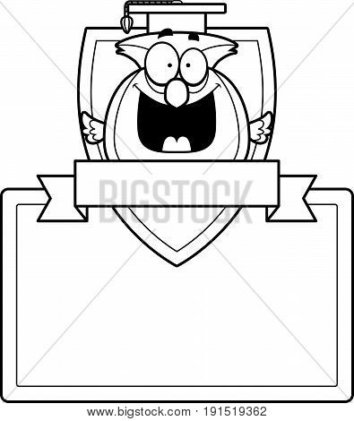Cartoon Owl Professor Sign