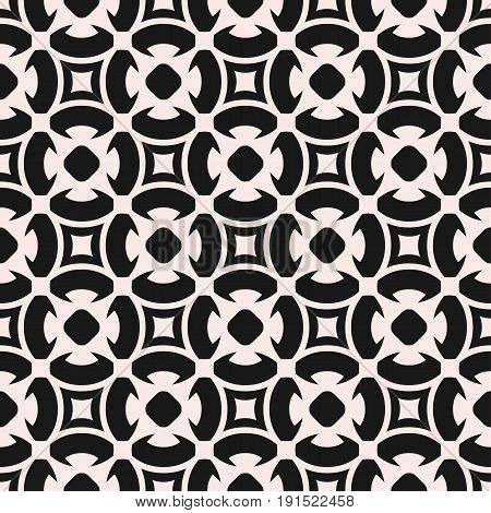 Ornamental seamless pattern.  Geometric floral texture. Monochrome ornament delicate lattice. Abstract background in oriental style. Design element for prints, textile, decor, tiling, fabric.