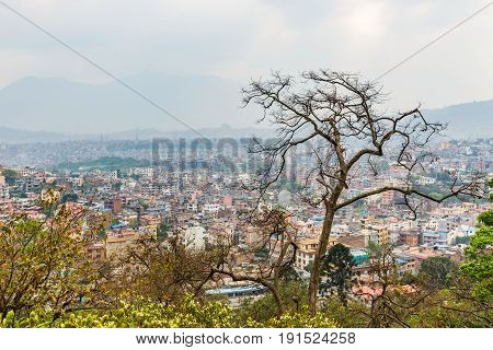 Panorama view of Kathmandu city in Nepal