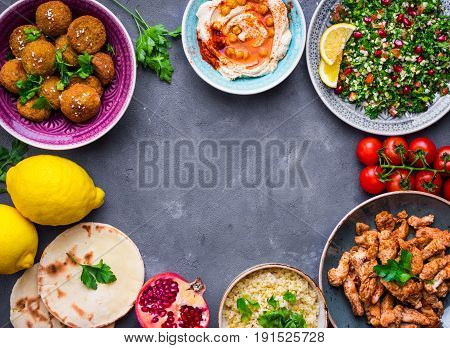 Middle Eastern Dishes Background