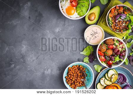 Buddha Bowl Salads Background