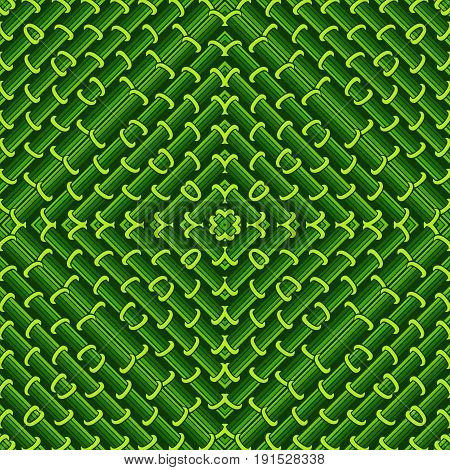 Seamless geometric pattern in green ecological colors.