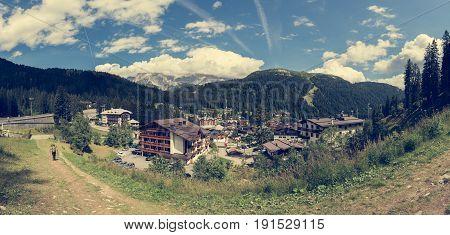 Madonna di Campiglio. Mountain resort in Italian Dolomites.