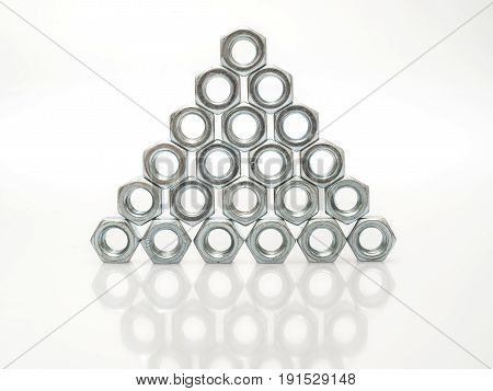 Metalware With Thread On A White Background