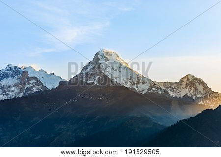 Landscape photo of sunrise in the mountains