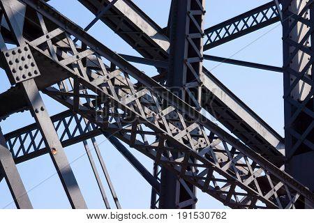 Bridge Girders And Steel Work On Hot Metal Bridge In Pittsburgh PA