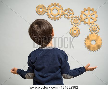 A Little Boy Looks At The Kinematic Scheme