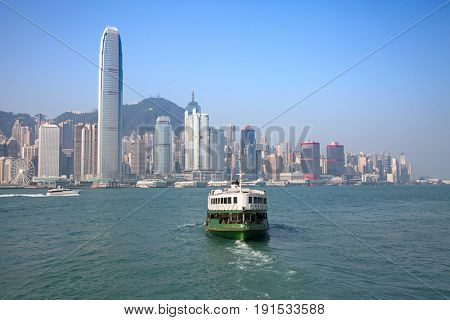 HONG KONG - APRIL 2: Ferry