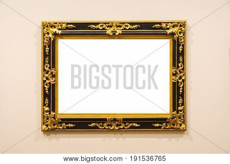 Blank Art Museum Isolated Painting Frame Decoration Indoors Wall White Template