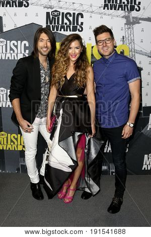 NASHVILLE, TN-JUN 07: (L-R) Jordan Lawson, Cassandra Lawson and Jonathan Lawson of The Railers attend the 2017 CMT Music Awards at the Music City Center on June 7, 2017 in Nashville, Tennessee.