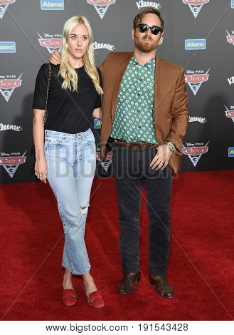 LOS ANGELES - JUN 10:  Dan Auerbach and Jen Goodall arrives for the