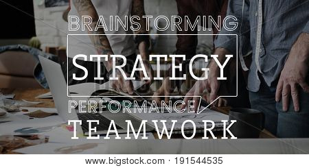 Business teamwork strategy successful word