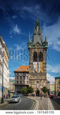 PRAGUE, CZECH REPUBLIC - SEPTEMBER 20, 2014: Henry's Tower