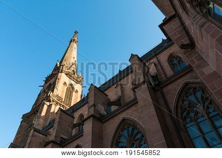 Karlsruhe Church Cathedral St Bernhard Religious Architecture Bernhardskirche Catholic