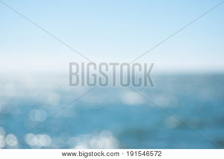 Blurred sea waves with bokeh light