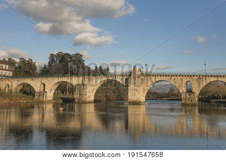 Bridge of Ponte da Barca in Summer time - north of Portugal