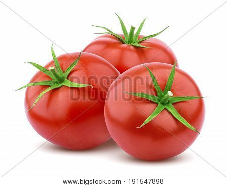Tomatoes isolated. Whole tomato isolated on white background with clipping path