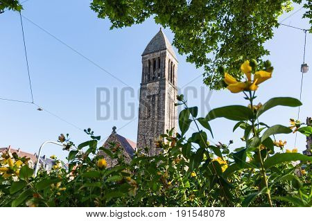 Karlsruhe Luther Church Cathedral Christian Architecture Exterior Building European Religion