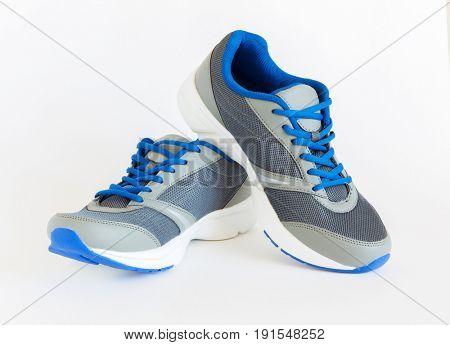 isolated unisex modern style jogging shoes