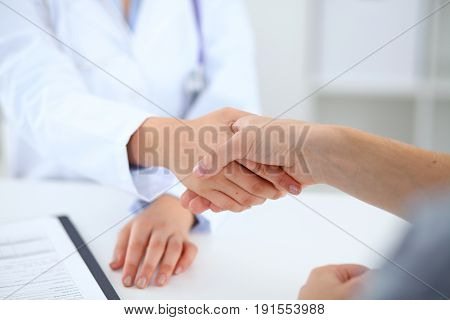 Partnership, trust and medical ethics concept. Medicine and health care concept