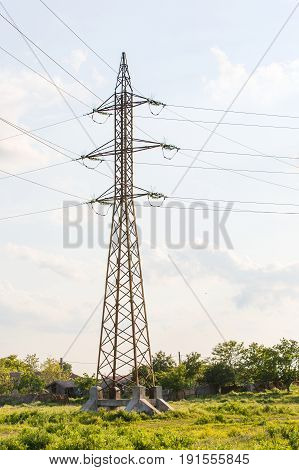 Photo of high voltage tower with wires