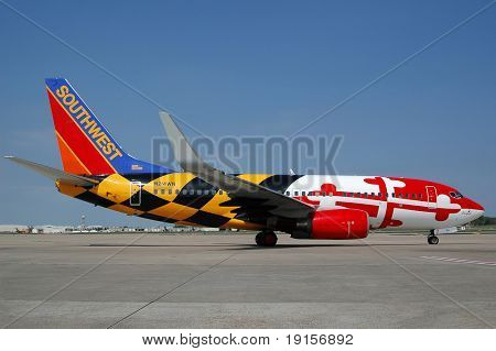 Southwest special painted plane