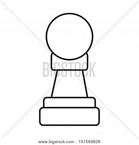 pawn chess piece icon image vector illustration design