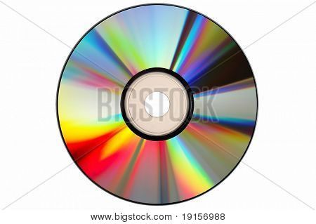 Compact Disc with clipping path on a white background poster
