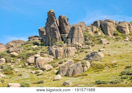 Granite boulders in the Snowy Mountains - Thredbo New South Wales Australia